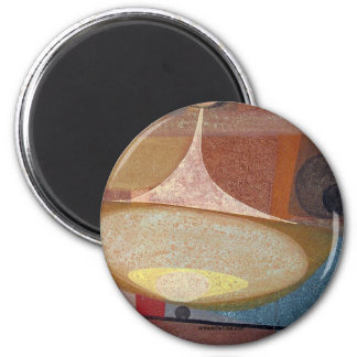 Diseño abstracto 14X11 Imán Redondo 5 Cm