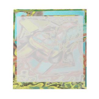 Diseño abstracto abstracto de discurso blocs de notas