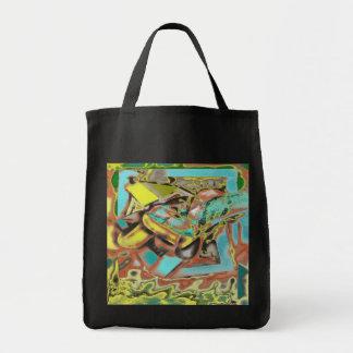 Diseño abstracto abstracto de discurso bolsa tela para la compra