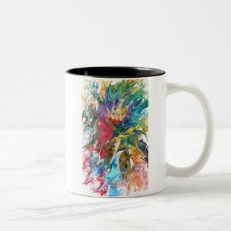 """Diseño abstracto:  """"Agita """" Taza De Dos Tonos"""