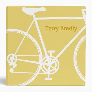 """Diseño abstracto amarillo de la bicicleta carpeta 2"""""""