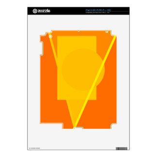 Diseño abstracto amarillo geométrico skins para iPad 2