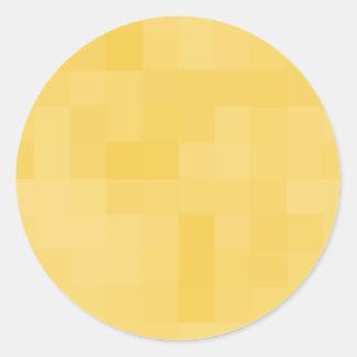 Diseño abstracto amarillo pegatina redonda
