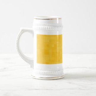 Diseño abstracto amarillo soleado jarra de cerveza