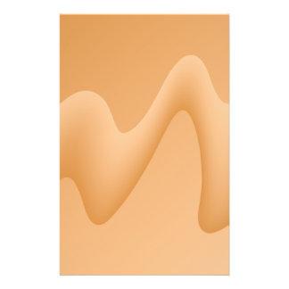 Diseño abstracto anaranjado claro de la imagen tarjetón