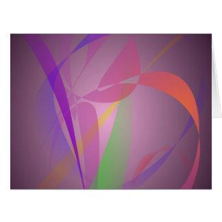 Diseño abstracto apacible gris púrpura tarjeta de felicitación grande