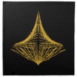 Diseño abstracto, ardientemente ámbar y negro servilletas de papel