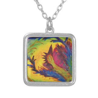Diseño abstracto artístico brillante collares personalizados