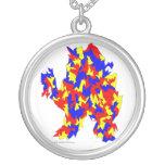 Diseño abstracto azul amarillo rojo de la criatura joyerias personalizadas