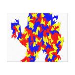Diseño abstracto azul amarillo rojo de la criatura lona estirada galerías