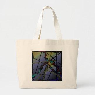 Diseño abstracto azul bolsas