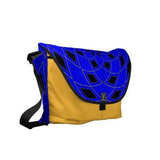 Diseño abstracto azul de la bolsa de mensajero del bolsa de mensajería