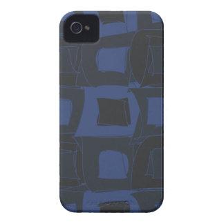 Diseño abstracto azul del arándano Case-Mate iPhone 4 cárcasas