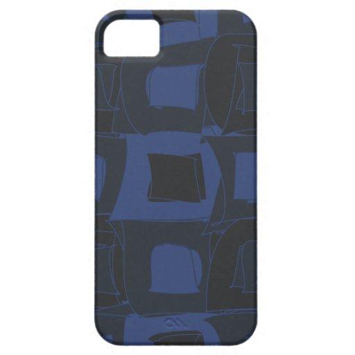 Diseño abstracto azul del arándano funda para iPhone SE/5/5s