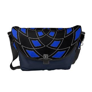 Diseño abstracto azul del negro de la bolsa de bolsas messenger