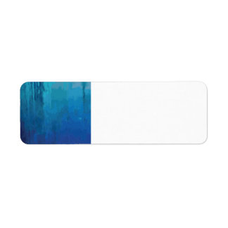 Diseño abstracto azul fresco del Grunge de la Etiqueta De Remite