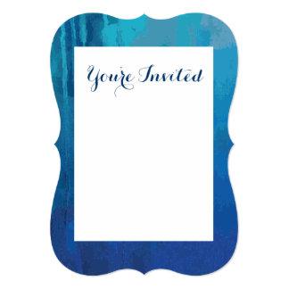 """Diseño abstracto azul fresco del Grunge de la Invitación 5"""" X 7"""""""