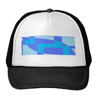 Diseño abstracto azul fresco gorras