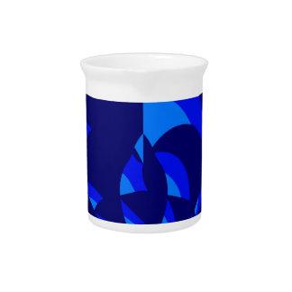Diseño abstracto azul jarras para bebida