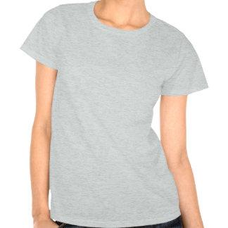 Diseño abstracto azul y negro camisetas