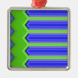 Diseño abstracto azul y verde ornatos