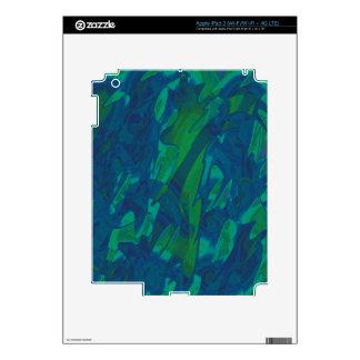 Diseño abstracto azul y verde pegatina skin para iPad 3