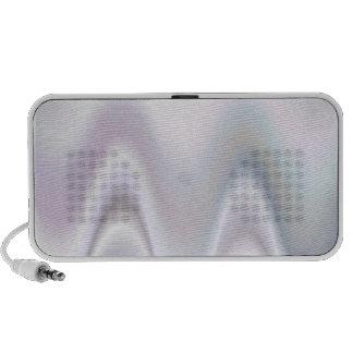 Diseño abstracto blanco de la onda notebook altavoz