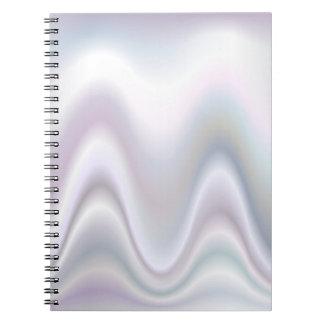 Diseño abstracto blanco de la onda libretas espirales