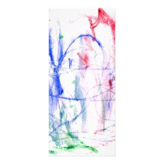 Diseño abstracto blanco del garabato del verde del plantillas de lonas