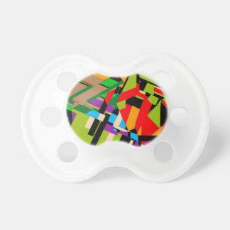 Diseño abstracto brillante chupetes para bebes