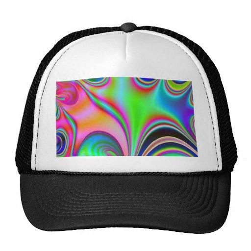 Diseño abstracto brillante fabuloso Rainbo del art Gorro