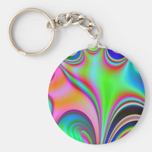 Diseño abstracto brillante fabuloso Rainbo del art Llaveros