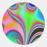 Diseño abstracto brillante fabuloso Rainbo del Pegatina Redonda