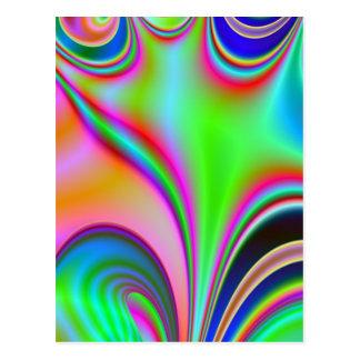 Diseño abstracto brillante fabuloso Rainbo del Postales