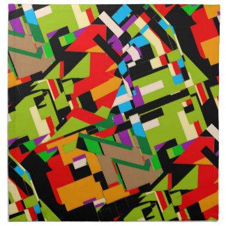 Diseño abstracto brillante servilletas