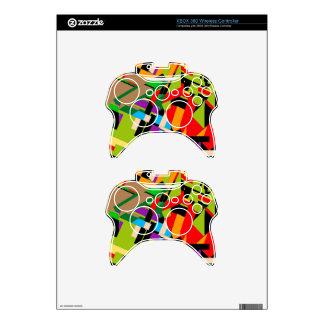 Diseño abstracto brillante mando xbox 360 skins