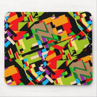 Diseño abstracto brillante alfombrilla de ratón