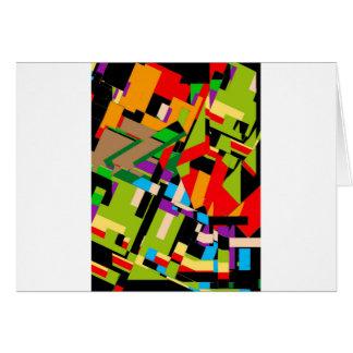 Diseño abstracto brillante tarjeta de felicitación