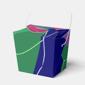 Diseño abstracto caja para regalo de boda