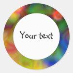 Diseño abstracto colorido (1) pegatina redonda