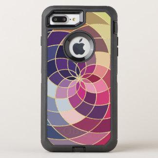 Diseño abstracto colorido asombroso funda OtterBox defender para iPhone 7 plus