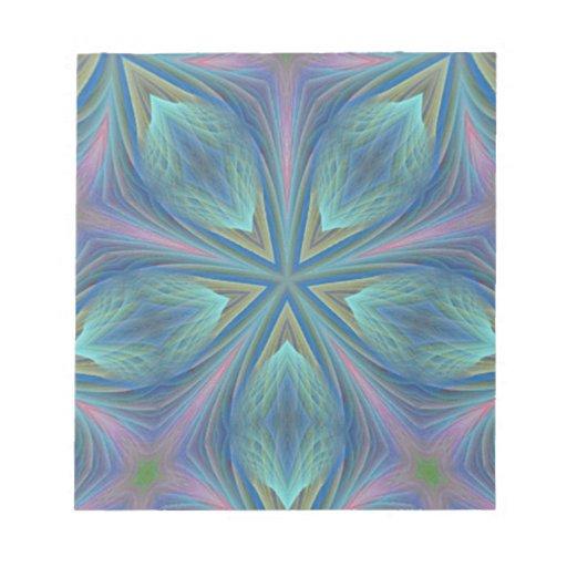 Diseño abstracto colorido bloc de notas