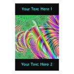 Diseño abstracto colorido brillante tarjetas publicitarias