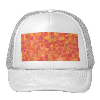 Diseño abstracto colorido brillante gorros bordados