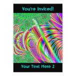 Diseño abstracto colorido brillante invitación 12,7 x 17,8 cm