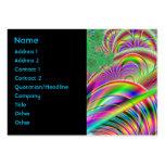Diseño abstracto colorido brillante plantillas de tarjetas personales