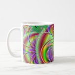 Diseño abstracto colorido brillante taza de café