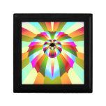 Diseño abstracto colorido caja de joyas