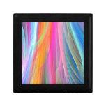 Diseño abstracto colorido caja de regalo
