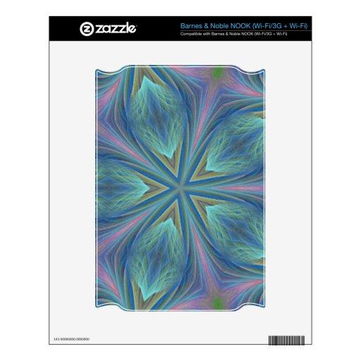 Diseño abstracto colorido calcomanías para el NOOK